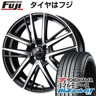 タイヤはフジ 送料無料 BLEST ブレスト ユーロスポーツ シャンドリィSE 6J 6.00-16 YOKOHAMA ブルーアース GT AE51 185/55R16 16インチ サマータイヤ ホイール4本セット