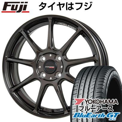 タイヤはフジ 送料無料 HOT STUFF ホットスタッフ クロススピード ハイパーエディションRS-9 5.5J 5.50-15 YOKOHAMA ブルーアース GT AE51 185/65R15 15インチ サマータイヤ ホイール4本セット