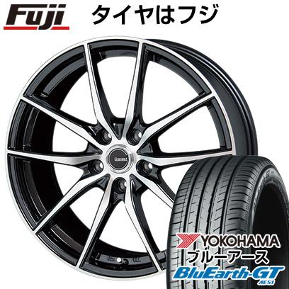 送料無料 新品 225 定番キャンバス 40R18 18インチ YOKOHAMA ブルーアース GT AE51 サマータイヤ ホイール4本セット HOT P-02 取付対象 7.50-18 ホットスタッフ STUFF ヨコハマ 7.5J ジースピード
