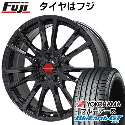 タイヤはフジ 送料無料 BIGWAY ビッグウエイ LEYBAHN GBX 7.5J 7.50-18 YOKOHAMA ブルーアース GT AE51 235/45R18 18インチ サマータイヤ ホイール4本セット