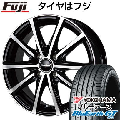 タイヤはフジ 送料無料 MID ユーロスピード V25 7J 7.00-17 YOKOHAMA ブルーアース GT AE51 215/55R17 17インチ サマータイヤ ホイール4本セット