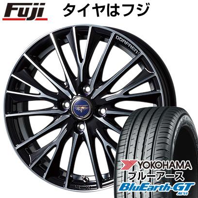 タイヤはフジ 送料無料 TOPY トピー ドルフレン デルディオ 4.5J 4.50-14 YOKOHAMA ブルーアース GT AE51 155/65R14 14インチ サマータイヤ ホイール4本セット