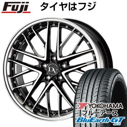 タイヤはフジ 送料無料 COSMIC ディアヴォレット デェリエ 7.5J 7.50-18 YOKOHAMA ブルーアース GT AE51 225/40R18 18インチ サマータイヤ ホイール4本セット