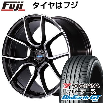 タイヤはフジ 送料無料 RAYS レイズ グラムライツ アズール57ANA 7.5J 7.50-19 YOKOHAMA ブルーアース GT AE51 225/45R19 19インチ サマータイヤ ホイール4本セット