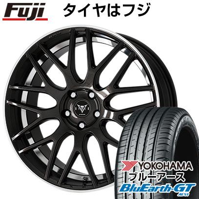タイヤはフジ 送料無料 WORK ワーク レイバー M009 7J 7.00-17 YOKOHAMA ブルーアース GT AE51 215/55R17 17インチ サマータイヤ ホイール4本セット