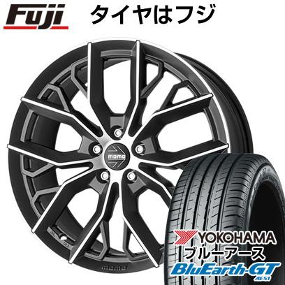 タイヤはフジ 送料無料 MOMO モモ マッシモ 7J 7.00-16 YOKOHAMA ブルーアース GT AE51 195/50R16 16インチ サマータイヤ ホイール4本セット