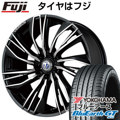 タイヤはフジ 送料無料 VERSUS ベルサス ストラテジーア コンキスタ 8J 8.00-19 YOKOHAMA ブルーアース GT AE51 225/45R19 19インチ サマータイヤ ホイール4本セット