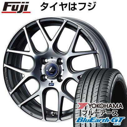 タイヤはフジ 送料無料 WEDS ウェッズ レオニス NAVIA 06 4.5J 4.50-15 YOKOHAMA ブルーアース GT AE51 165/55R15 15インチ サマータイヤ ホイール4本セット