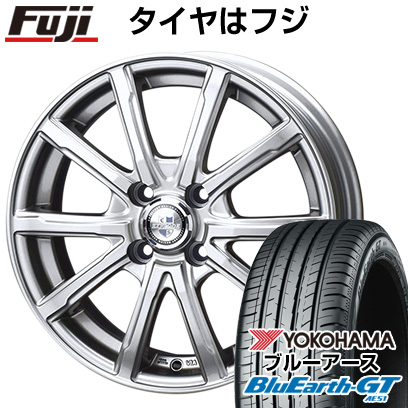 タイヤはフジ 送料無料 BIGWAY ビッグウエイ EXPLODE DM-10 4.5J 4.50-14 YOKOHAMA ブルーアース GT AE51 155/65R14 14インチ サマータイヤ ホイール4本セット