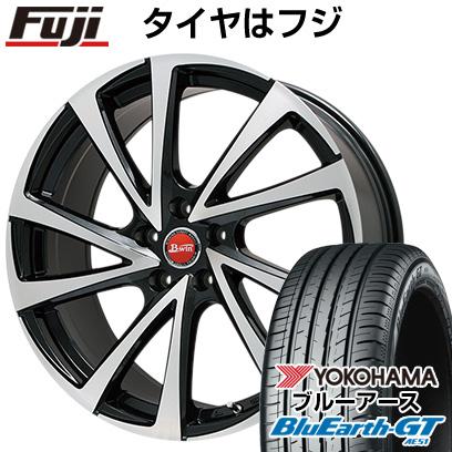 タイヤはフジ 送料無料 BIGWAY ビッグウエイ B-WIN ヴェノーザ10 7J 7.00-17 YOKOHAMA ブルーアース GT AE51 215/55R17 17インチ サマータイヤ ホイール4本セット