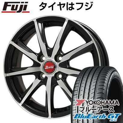 タイヤはフジ 送料無料 BIGWAY ビッグウエイ B-WIN ヴェノーザ9 6J 6.00-15 YOKOHAMA ブルーアース GT AE51 185/60R15 15インチ サマータイヤ ホイール4本セット