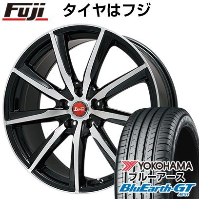 タイヤはフジ 送料無料 プリウス50系専用 BIGWAY ビッグウエイ B-WIN ヴェノーザ9 トヨタ車専用(平座ナット) 6.5J 6.50-15 YOKOHAMA ブルーアース GT AE51 195/65R15 15インチ サマータイヤ ホイール4本セット