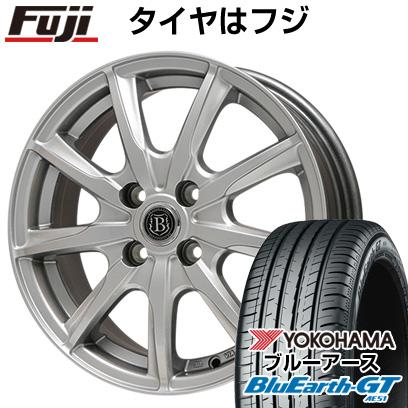 タイヤはフジ 送料無料 BRANDLE-LINE ブランドルライン ボレアノ9 メタリックグレー 6.5J 6.50-16 YOKOHAMA ブルーアース GT AE51 195/50R16 16インチ サマータイヤ ホイール4本セット