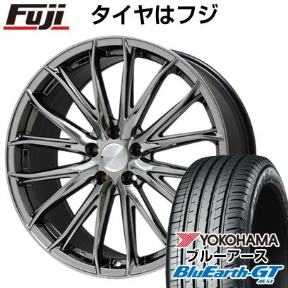タイヤはフジ 送料無料 BRANDLE ブランドル 757C 7.5J 7.50-18 YOKOHAMA ブルーアース GT AE51 215/40R18 18インチ サマータイヤ ホイール4本セット