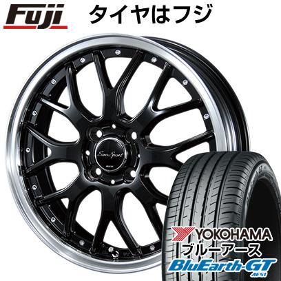 タイヤはフジ 送料無料 BLEST ブレスト ユーロスポーツ タイプ815 6J 6.00-16 YOKOHAMA ブルーアース GT AE51 195/50R16 16インチ サマータイヤ ホイール4本セット