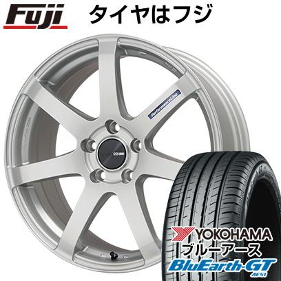タイヤはフジ 送料無料 ENKEI エンケイ PF07 7J 7.00-17 YOKOHAMA ブルーアース GT AE51 215/55R17 17インチ サマータイヤ ホイール4本セット