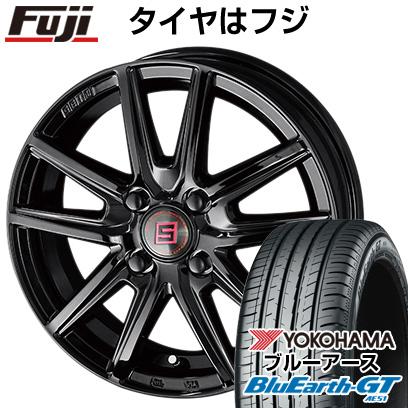 タイヤはフジ 送料無料 KYOHO 共豊 キョウホウ ザインSS ブラックエディション 4.5J 4.50-14 YOKOHAMA ブルーアース GT AE51 155/65R14 14インチ サマータイヤ ホイール4本セット