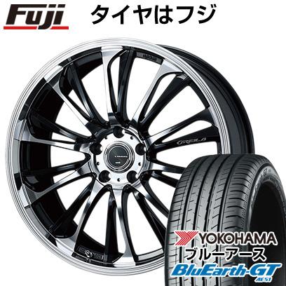 タイヤはフジ 送料無料 WEDS ウェッズ レオニス グレイラβ 8J 8.00-18 YOKOHAMA ブルーアース GT AE51 235/45R18 18インチ サマータイヤ ホイール4本セット
