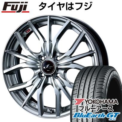 タイヤはフジ 送料無料 WEDS ウェッズ レオニス LV限定 5.5J 5.50-15 YOKOHAMA ブルーアース GT AE51 185/60R15 15インチ サマータイヤ ホイール4本セット