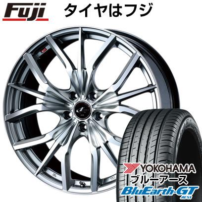 タイヤはフジ 送料無料 WEDS ウェッズ レオニス LV限定 7J 7.00-17 YOKOHAMA ブルーアース GT AE51 215/45R17 17インチ サマータイヤ ホイール4本セット