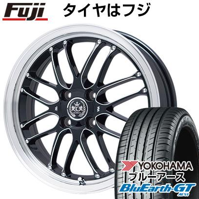 タイヤはフジ 送料無料 LEHRMEISTER レアマイスター ブルネッロ ブラックエッジブラッシュド 限定 6.5J 6.50-16 YOKOHAMA ブルーアース GT AE51 195/50R16 16インチ サマータイヤ ホイール4本セット