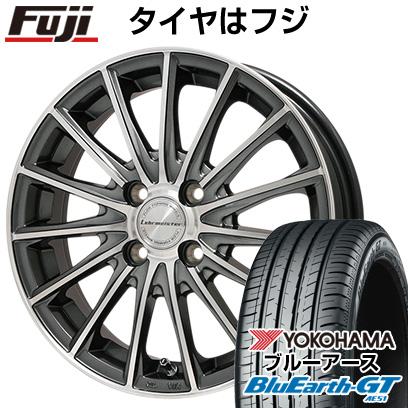 タイヤはフジ 送料無料 LEHRMEISTER LM-S FS15 (ガンメタポリッシュ) 6.5J 6.50-17 YOKOHAMA ブルーアース GT AE51 205/45R17 17インチ サマータイヤ ホイール4本セット