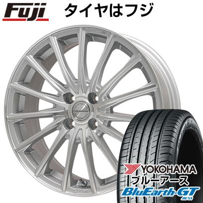 タイヤはフジ 送料無料 LEHRMEISTER LM-S FS15 (シルバーポリッシュ) 6.5J 6.50-17 YOKOHAMA ブルーアース GT AE51 205/45R17 17インチ サマータイヤ ホイール4本セット