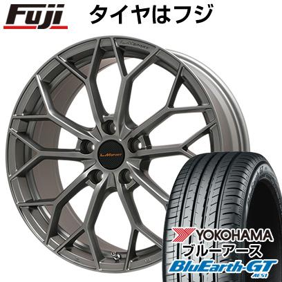 タイヤはフジ 送料無料 LEHRMEISTER レアマイスター LMスポーツLM-55M (マットガンメタ) 7.5J 7.50-17 YOKOHAMA ブルーアース GT AE51 215/55R17 17インチ サマータイヤ ホイール4本セット
