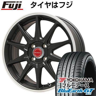 タイヤはフジ 送料無料 LEHRMEISTER レアマイスター LMスポーツRS10(マットブラックリムポリッシュ) 6.5J 6.50-16 YOKOHAMA ブルーアース GT AE51 185/55R16 16インチ サマータイヤ ホイール4本セット