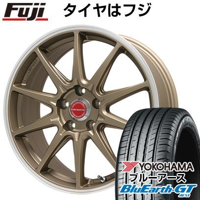 タイヤはフジ 送料無料 LEHRMEISTER レアマイスター LMスポーツRS10(マットブロンズリムポリッシュ) 7J 7.00-16 YOKOHAMA ブルーアース GT AE51 205/65R16 16インチ サマータイヤ ホイール4本セット