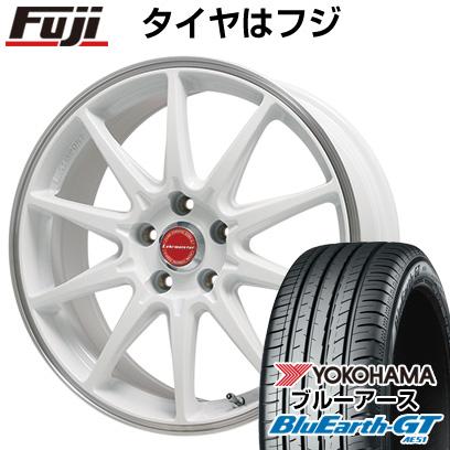 タイヤはフジ 送料無料 LEHRMEISTER レアマイスター LMスポーツRS10(ホワイト/リムポリッシュ) 7J 7.00-16 YOKOHAMA ブルーアース GT AE51 195/50R16 16インチ サマータイヤ ホイール4本セット