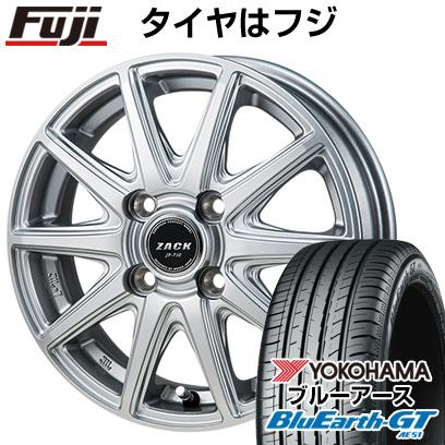 タイヤはフジ 送料無料 MONZA モンツァ ZACK JP-710 4.5J 4.50-14 YOKOHAMA ブルーアース GT AE51 155/65R14 14インチ サマータイヤ ホイール4本セット