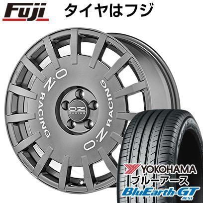 タイヤはフジ 送料無料 OZ ラリーレーシング 8J 8.00-18 YOKOHAMA ブルーアース GT AE51 235/45R18 18インチ サマータイヤ ホイール4本セット
