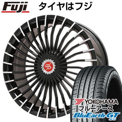 【取付対象】 【送料無料】 205/45R17 17インチ PREMIX プレミックス グラッパ f30 (ブラックポリッシュ) 6.5J 6.50-17 YOKOHAMA ヨコハマ ブルーアース GT AE51 サマータイヤ ホイール4本セット