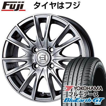タイヤはフジ 送料無料 TECHNOPIA テクノピア アフロディーテ EF 6J 6.00-15 YOKOHAMA ブルーアース GT AE51 195/65R15 15インチ サマータイヤ ホイール4本セット