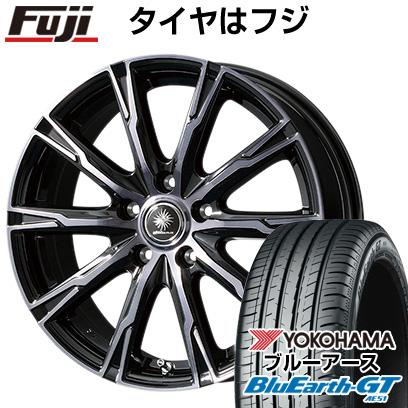 タイヤはフジ 送料無料 フリード 5穴/114 TOPY トピー ディルーチェ DX10 6J 6.00-15 YOKOHAMA ブルーアース GT AE51 185/65R15 15インチ サマータイヤ ホイール4本セット