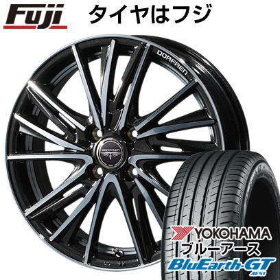 タイヤはフジ 送料無料 TOPY トピー ドルフレン ビゲープ 5.5J 5.50-15 YOKOHAMA ブルーアース GT AE51 175/65R15 15インチ サマータイヤ ホイール4本セット