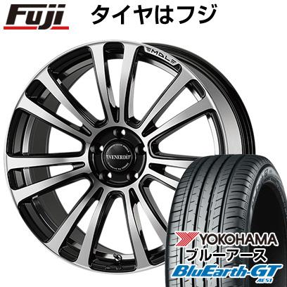 送料無料 225 45R19 最安値に挑戦 19インチ 感謝価格 YOKOHAMA ブルーアース GT AE51 7.5J ホイール4本セット マデリーナヴェネーレ ヴェネルディ VENERDI タイヤはフジ 7.50-19 サマータイヤ