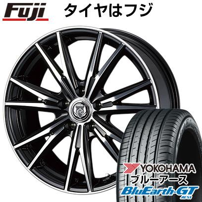 タイヤはフジ 送料無料 フリード 5穴/114 WEDS ウェッズ ライツレー DK 6J 6.00-15 YOKOHAMA ブルーアース GT AE51 185/65R15 15インチ サマータイヤ ホイール4本セット