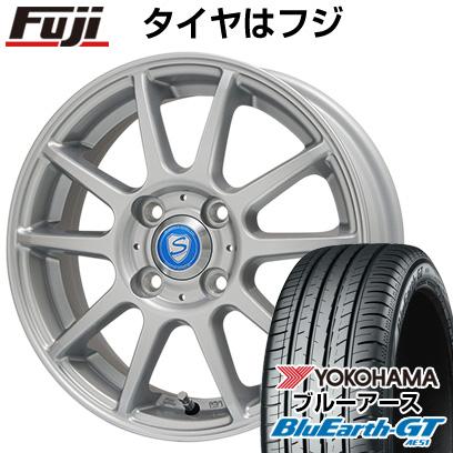 タイヤはフジ 送料無料 BRANDLE ブランドル 302 5.5J 5.50-14 YOKOHAMA ブルーアース GT AE51 175/65R14 14インチ サマータイヤ ホイール4本セット