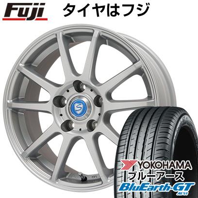 タイヤはフジ 送料無料 BRANDLE-LINE ブランドルライン カリテスS10 シルバー 6.5J 6.50-16 YOKOHAMA ブルーアース GT AE51 195/50R16 16インチ サマータイヤ ホイール4本セット