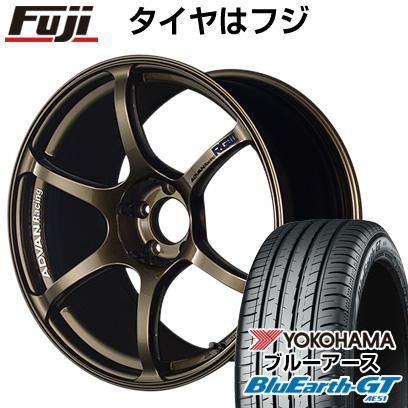 タイヤはフジ 送料無料 YOKOHAMA アドバンレーシング RGIII 8.5J 8.50-19 YOKOHAMA ブルーアース GT AE51 225/45R19 19インチ サマータイヤ ホイール4本セット