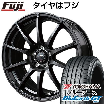 タイヤはフジ 送料無料 シエンタ 5穴/100 MID シュナイダー スタッグ 6J 6.00-15 YOKOHAMA ブルーアース GT AE51 185/60R15 15インチ サマータイヤ ホイール4本セット