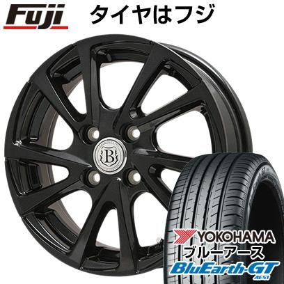 タイヤはフジ 送料無料 BRANDLE-LINE ブランドルライン ボレアノ10 パールブラック 4.5J 4.50-14 YOKOHAMA ブルーアース GT AE51 155/65R14 14インチ サマータイヤ ホイール4本セット