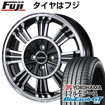 タイヤはフジ 送料無料 BLEST ブレスト ビートステージ SD-C 4.5J 4.50-15 YOKOHAMA ブルーアース GT AE51 165/55R15 15インチ サマータイヤ ホイール4本セット