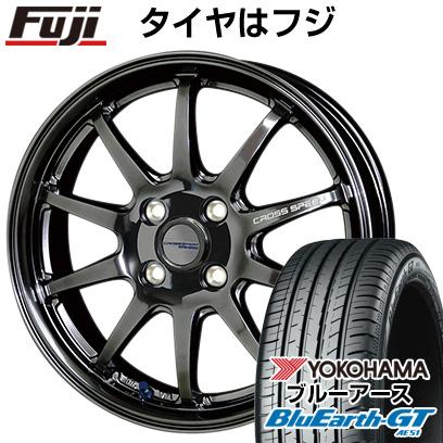 タイヤはフジ 送料無料 HOT STUFF ホットスタッフ クロススピード ハイパーエディションCR10 4.5J 4.50-14 YOKOHAMA ブルーアース GT AE51 155/65R14 14インチ サマータイヤ ホイール4本セット