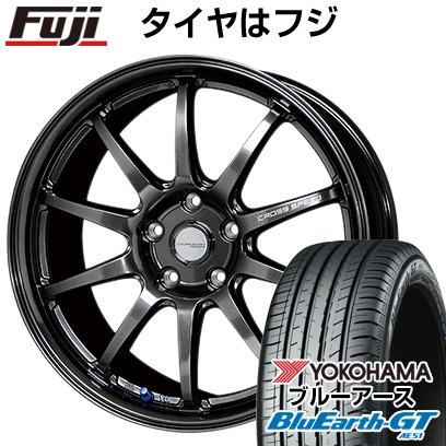 タイヤはフジ 送料無料 HOT STUFF ホットスタッフ クロススピード ハイパーエディションCR10 7.5J 7.50-18 YOKOHAMA ブルーアース GT AE51 225/40R18 18インチ サマータイヤ ホイール4本セット