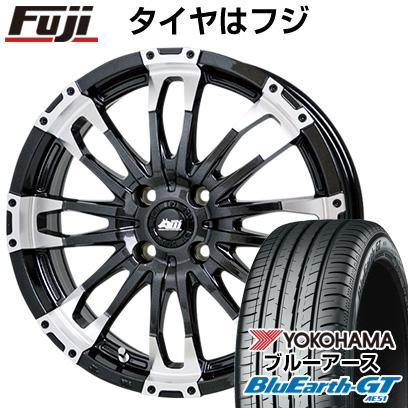 タイヤはフジ 送料無料 HOT STUFF ホットスタッフ マッドクロス ウルフ 4.5J 4.50-15 YOKOHAMA ブルーアース GT AE51 165/55R15 15インチ サマータイヤ ホイール4本セット