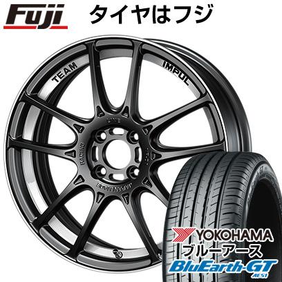 タイヤはフジ 送料無料 IMPUL インパル レーシングライン NR-01 6.5J 6.50-16 YOKOHAMA ブルーアース GT AE51 195/45R16 16インチ サマータイヤ ホイール4本セット
