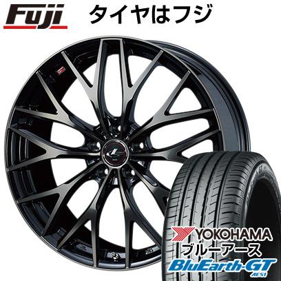 タイヤはフジ 送料無料 WEDS ウェッズ レオニス MX 6.5J 6.50-16 YOKOHAMA ブルーアース GT AE51 195/55R16 16インチ サマータイヤ ホイール4本セット